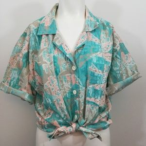 Vintage 80's 90s Cricket Lane Abstract Shirt 16